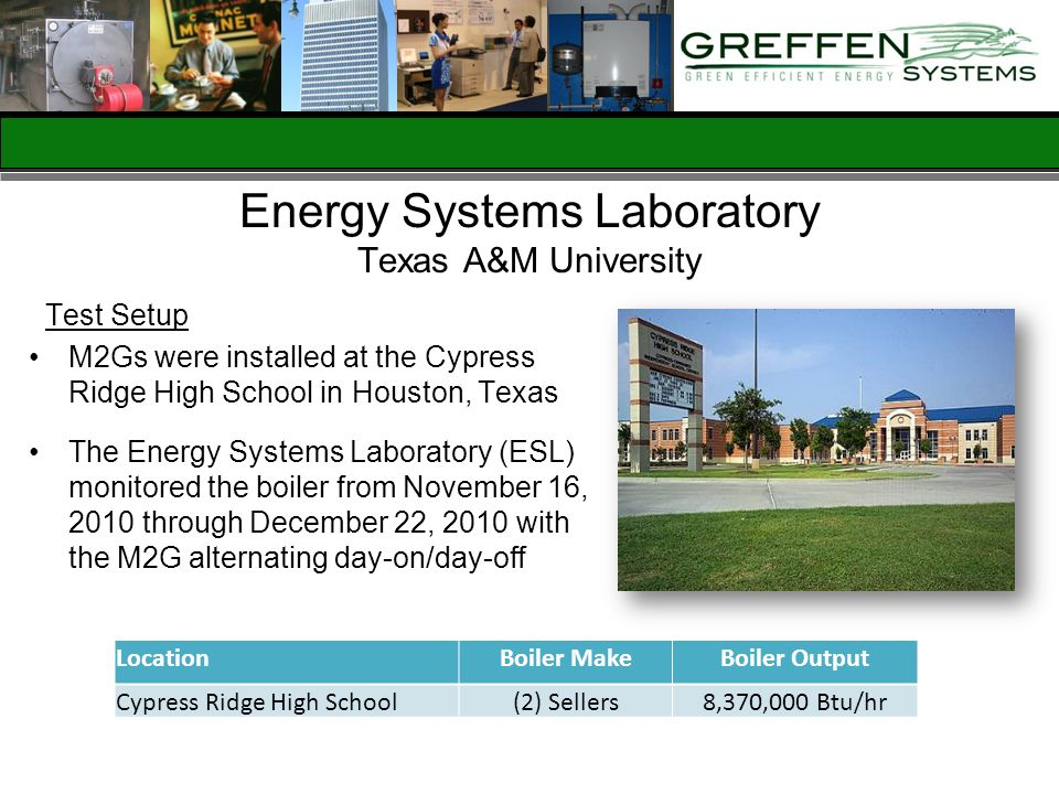 Energy Systems Laboratory Texas A&M University