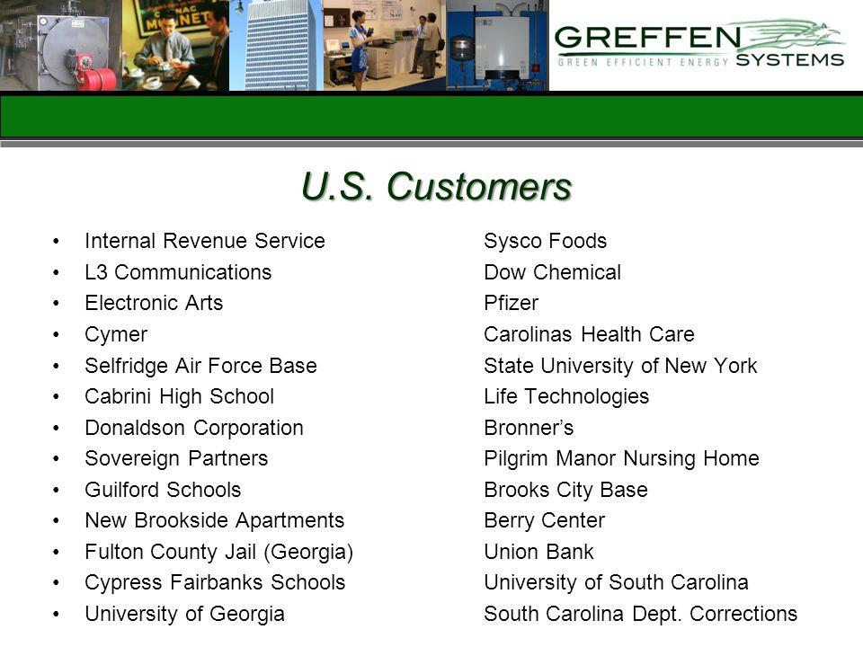 U.S. Customers Internal Revenue Service Sysco Foods