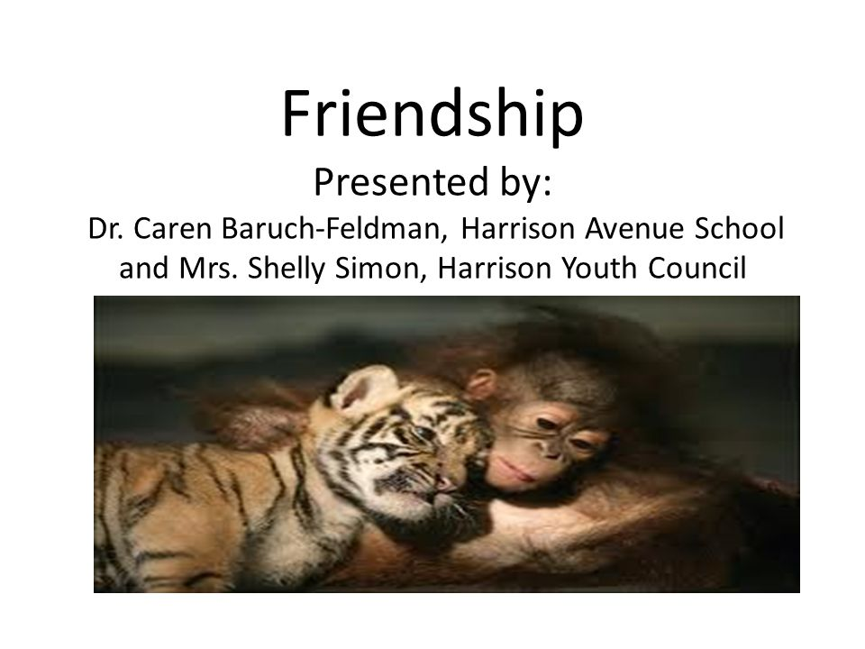 Friendship Presented by: Dr