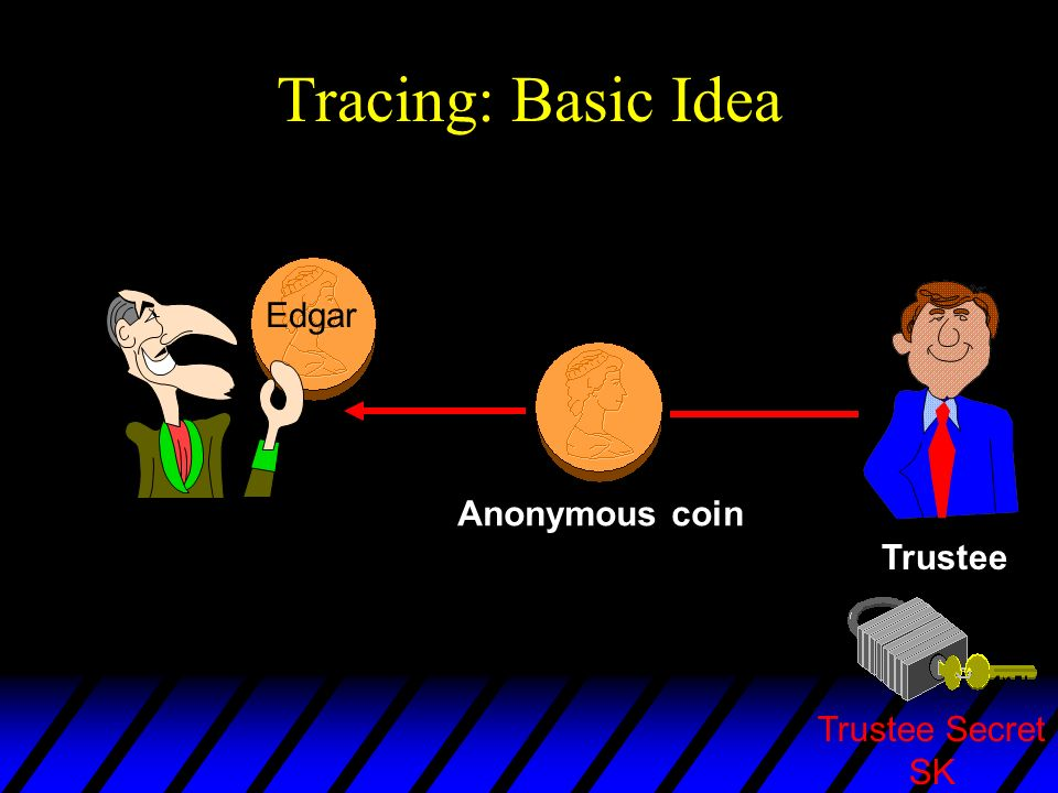 Tracing: Basic Idea I order the Trustee to trace this coin. Edgar