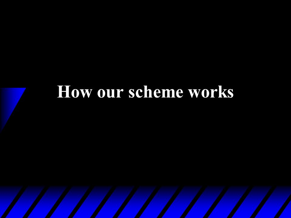 How our scheme works
