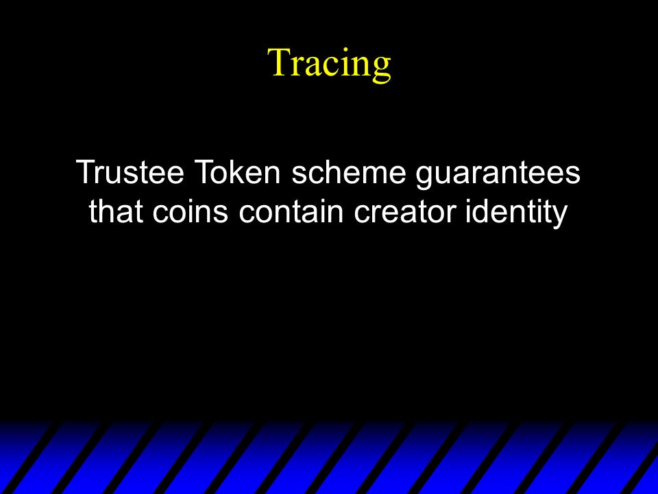 Tracing Trustee Token scheme guarantees