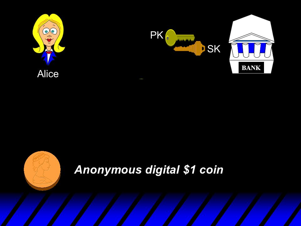 Anonymous digital $1 coin