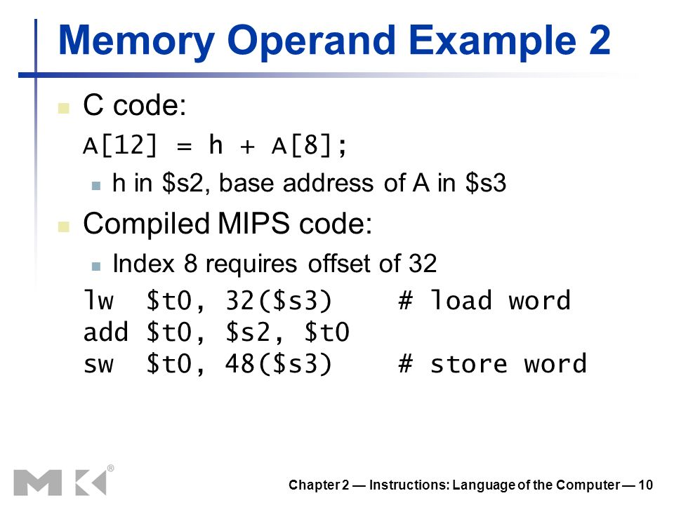 Memory Operand Example 2