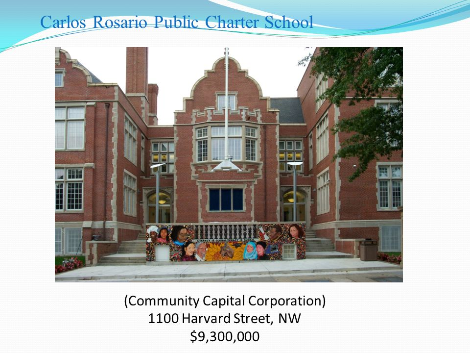 (Community Capital Corporation) 1100 Harvard Street, NW $9,300,000