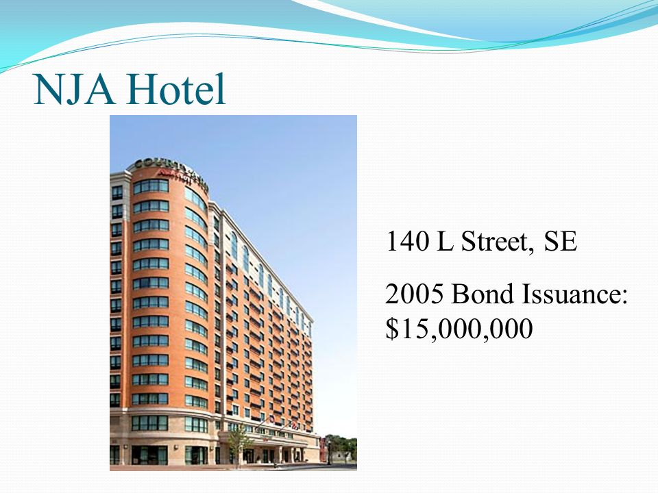 NJA Hotel 140 L Street, SE 2005 Bond Issuance: $15,000,000