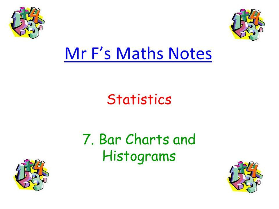 Statistics 7. Bar Charts and Histograms