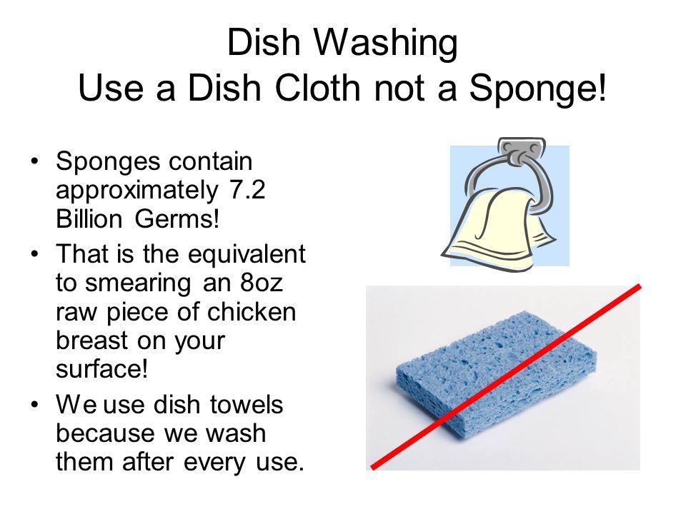 Dish Washing Use a Dish Cloth not a Sponge!