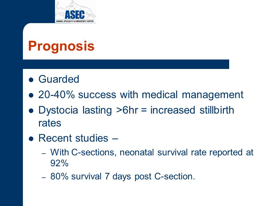 Prognosis Guarded 20-40% success with medical management
