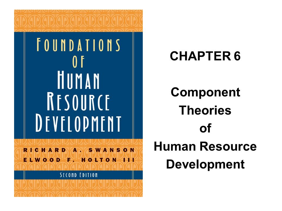 CHAPTER 6 Component Theories of Human Resource Development