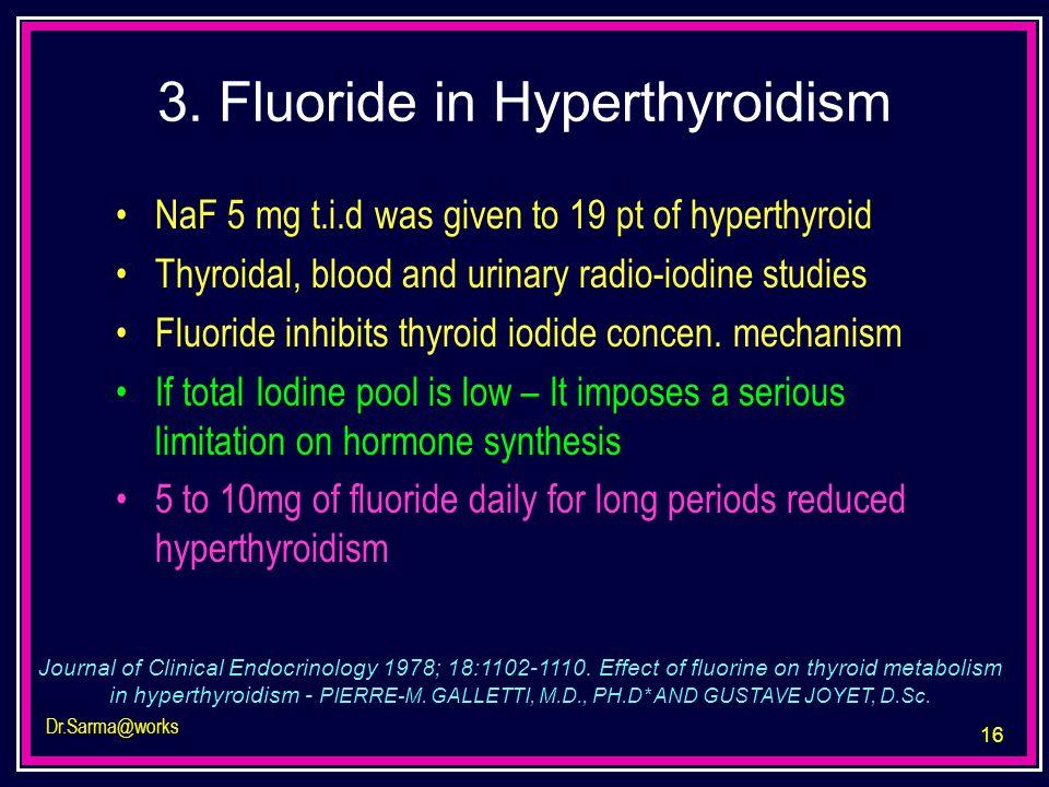 3. Fluoride in Hyperthyroidism