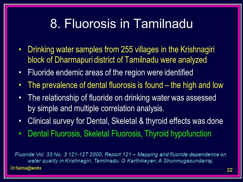 8. Fluorosis in Tamilnadu