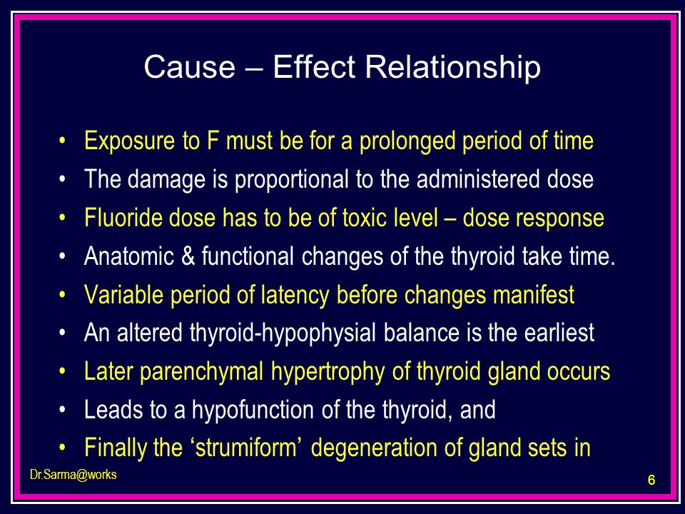 Cause – Effect Relationship