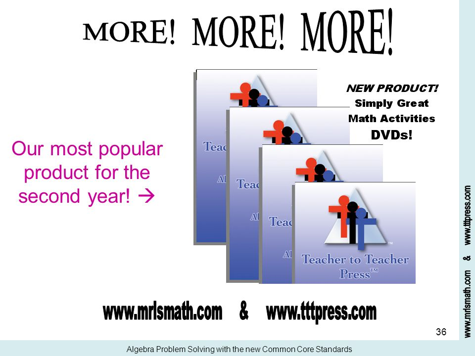 MORE! MORE! MORE! Our most popular product for the second year! 