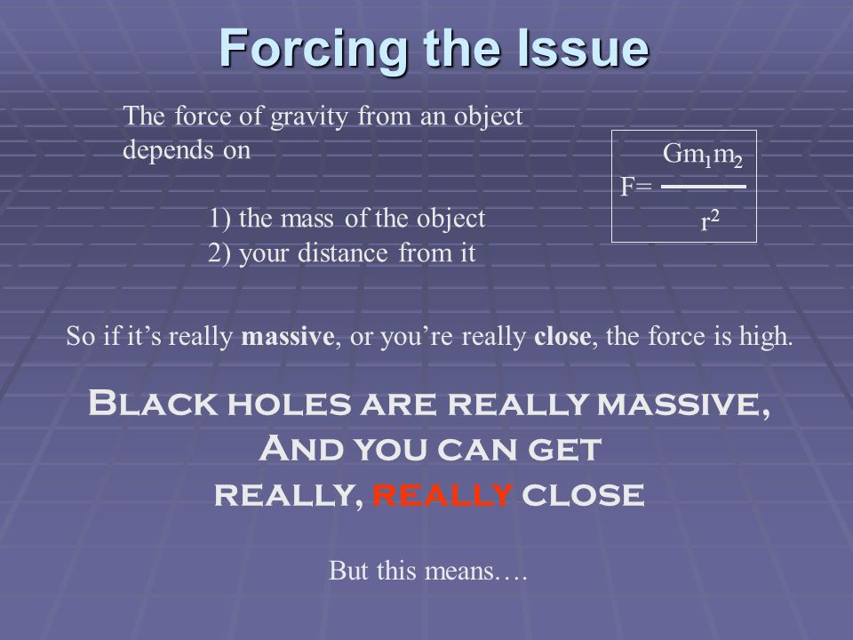 Black holes are really massive,