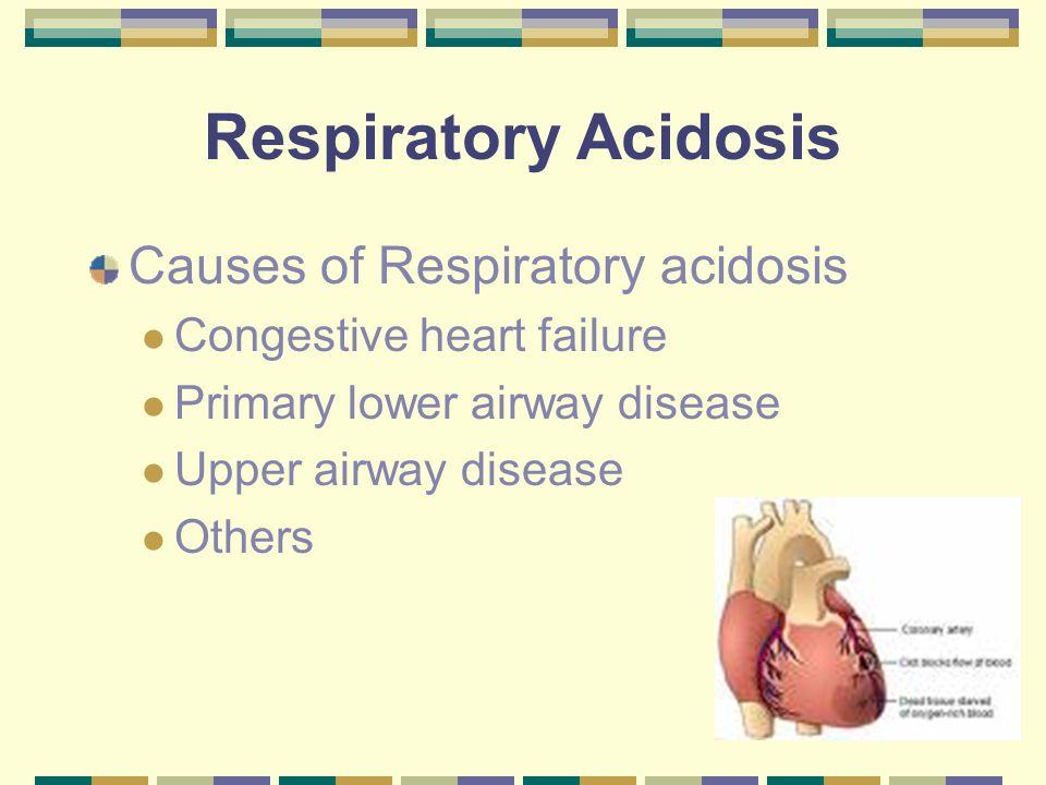 Respiratory Acidosis Causes of Respiratory acidosis