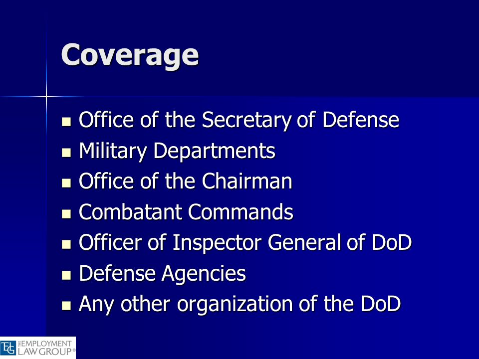 Coverage Office of the Secretary of Defense Military Departments