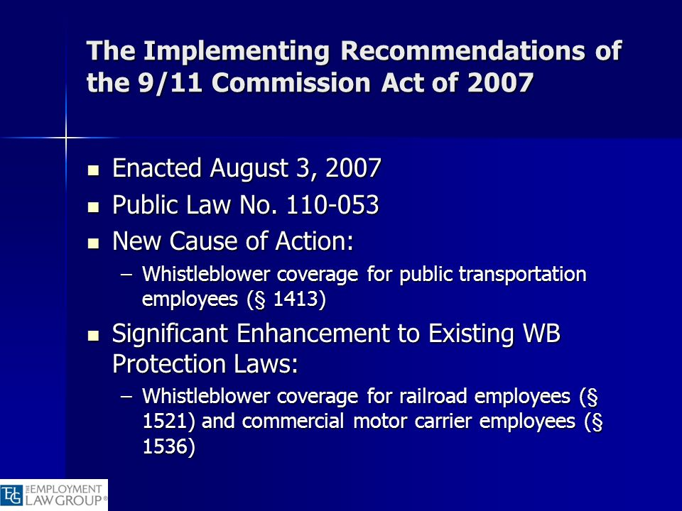 The Implementing Recommendations of the 9/11 Commission Act of 2007