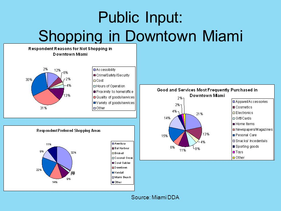 Public Input: Shopping in Downtown Miami