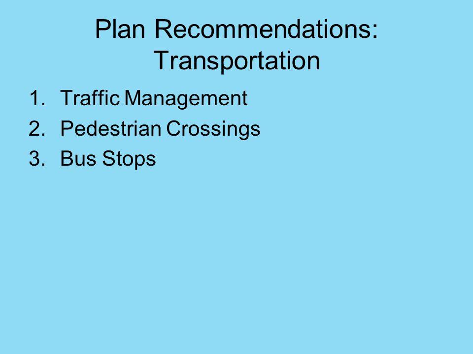 Plan Recommendations: Transportation