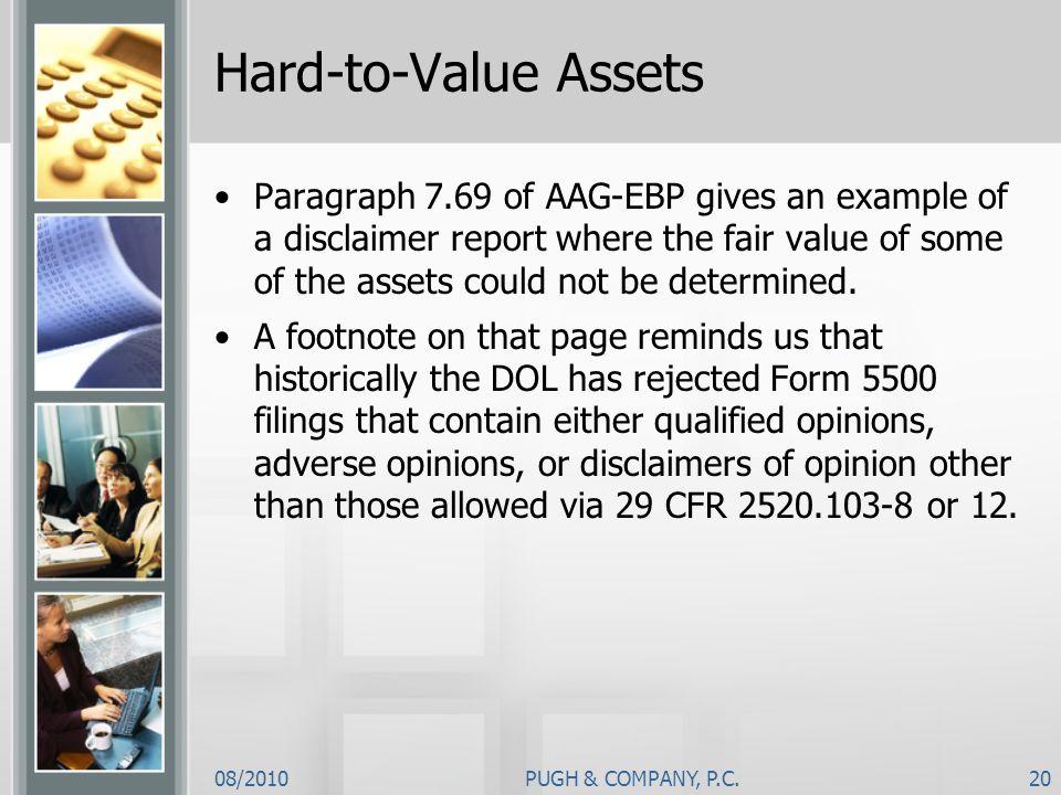 Hard-to-Value Assets
