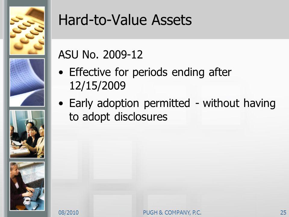 Hard-to-Value Assets ASU No. 2009-12