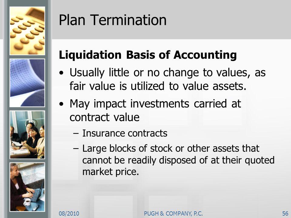 Plan Termination Liquidation Basis of Accounting