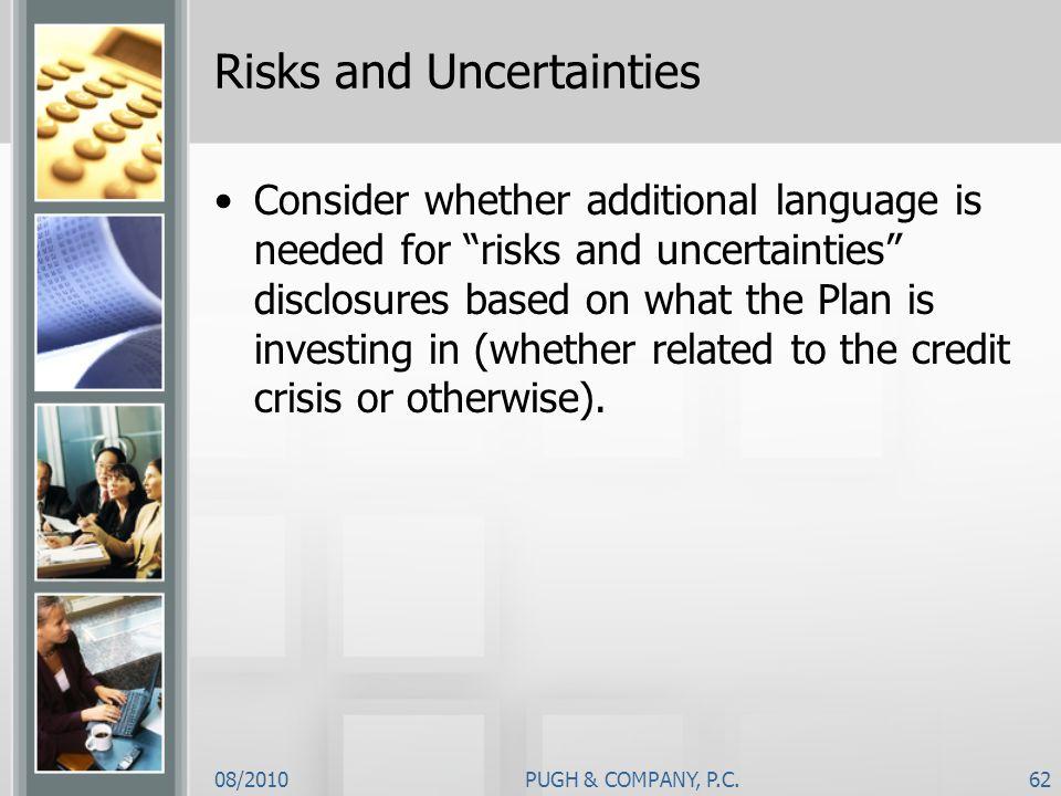 Risks and Uncertainties