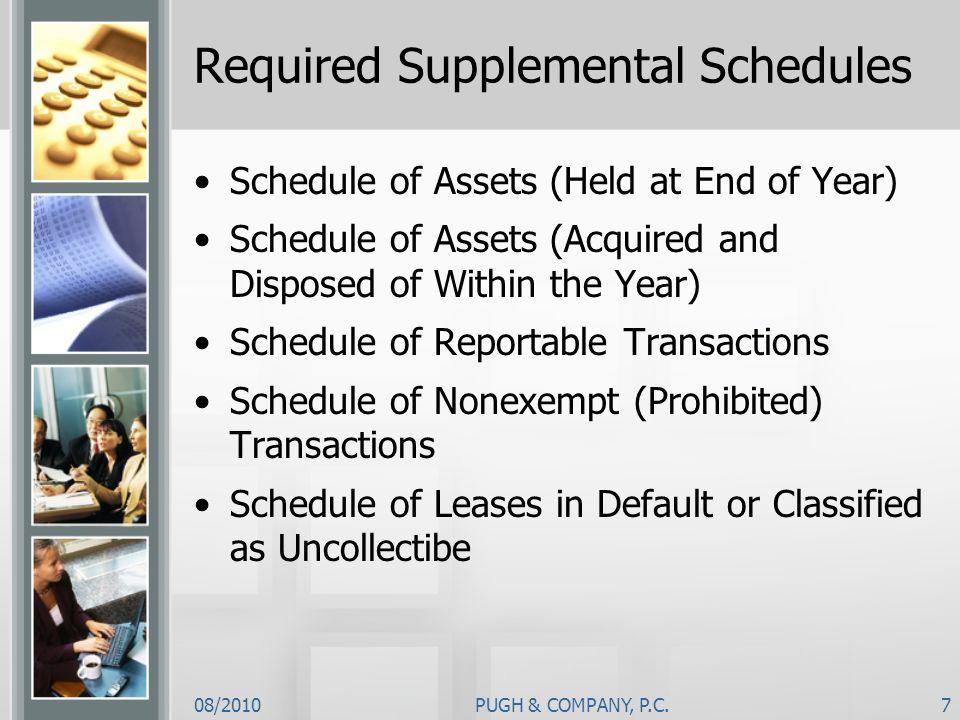 Required Supplemental Schedules