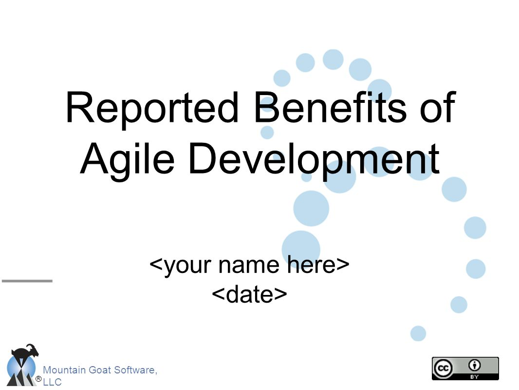 Reported Benefits of Agile Development