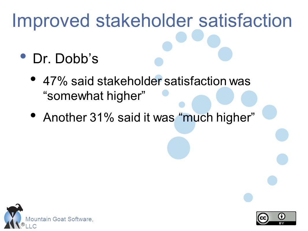 Improved stakeholder satisfaction