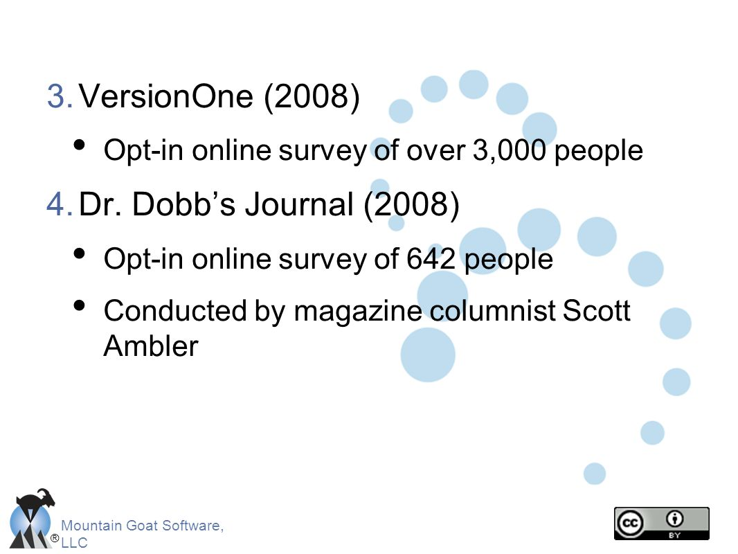 VersionOne (2008) Dr. Dobb's Journal (2008)