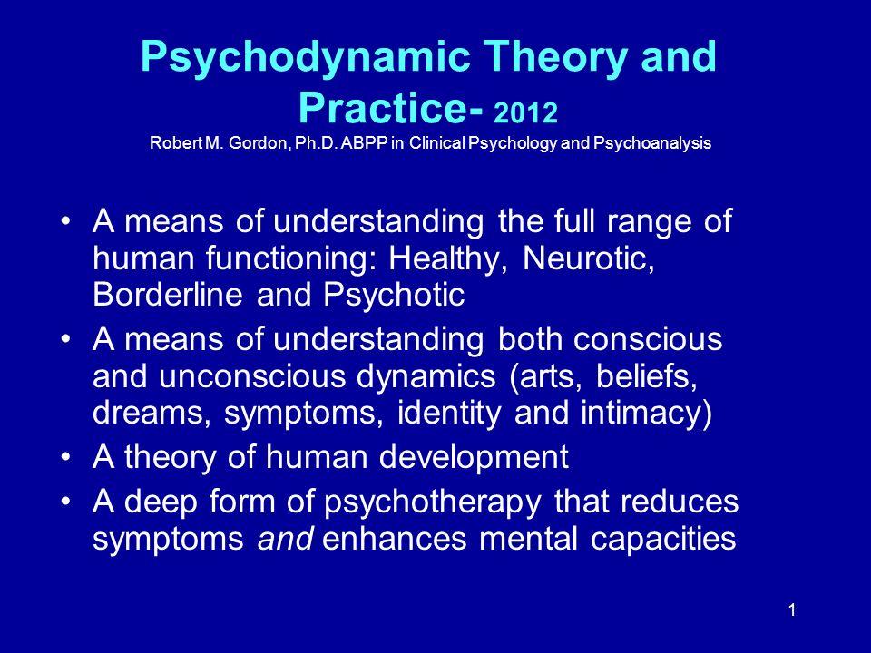 Psychodynamic Theory and Practice- 2012 Robert M. Gordon, Ph. D