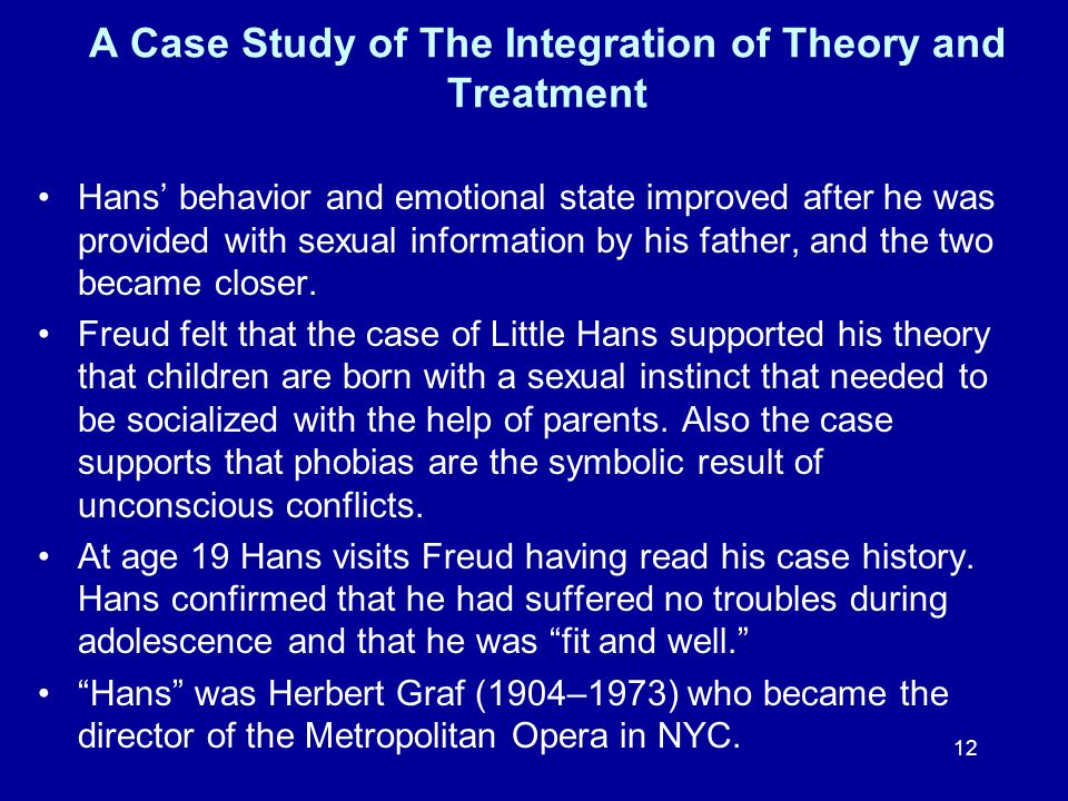 A Case Study of The Integration of Theory and Treatment
