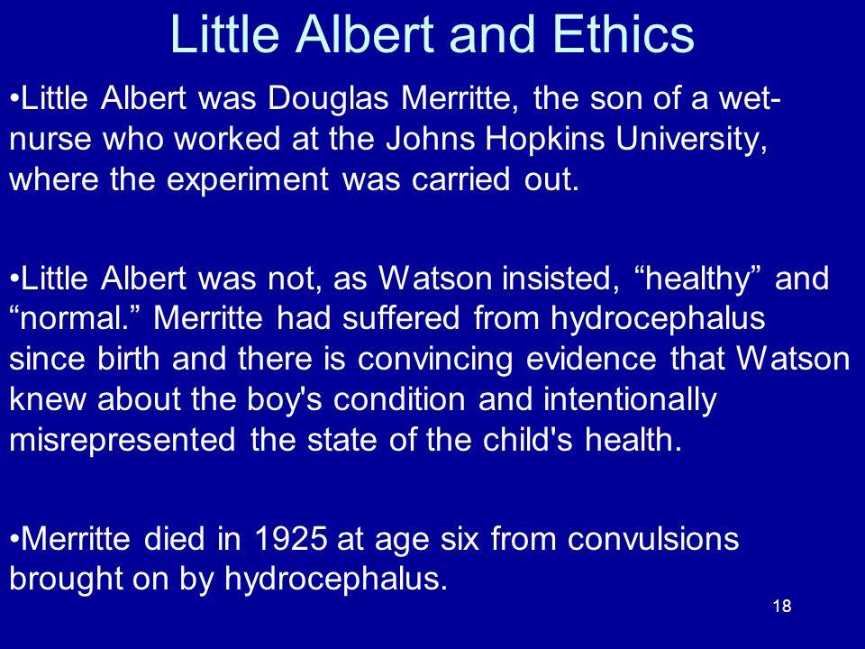 Little Albert and Ethics