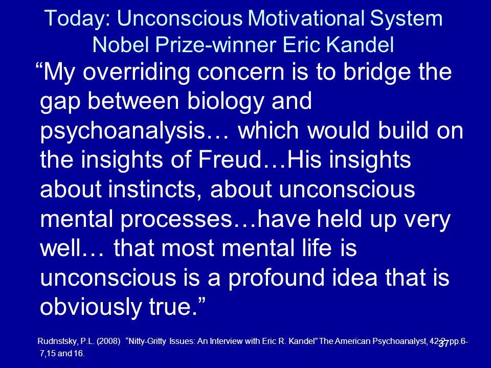 Today: Unconscious Motivational System Nobel Prize-winner Eric Kandel