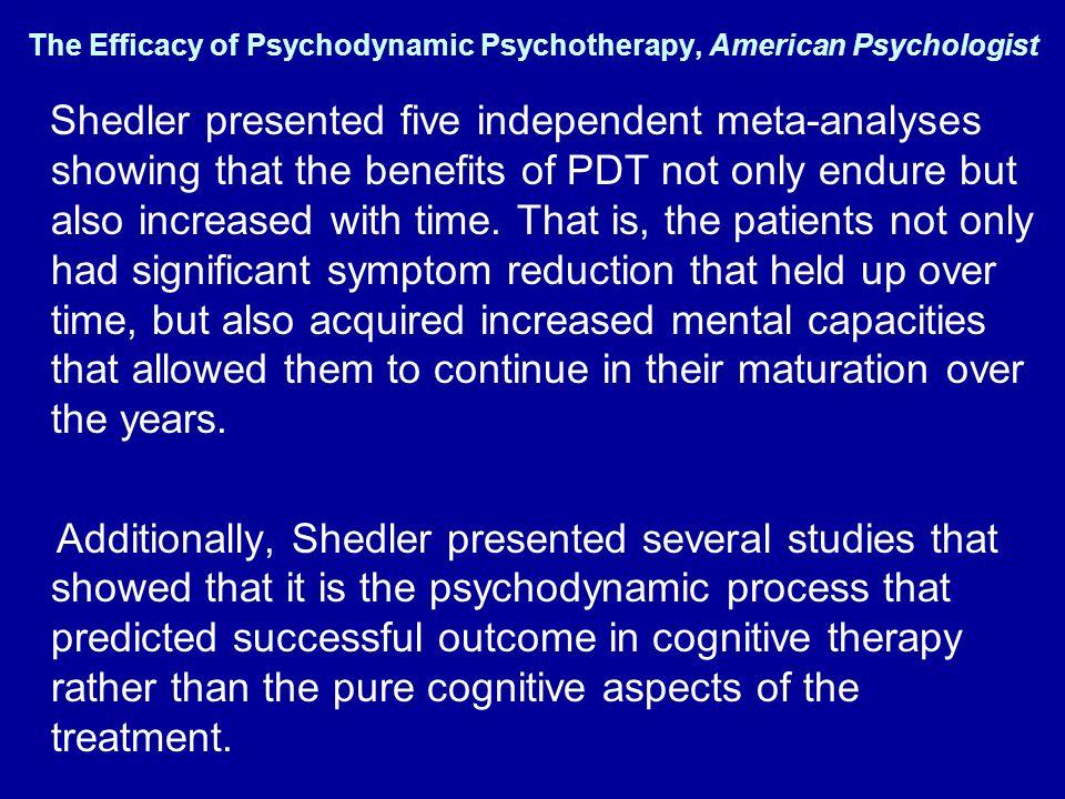The Efficacy of Psychodynamic Psychotherapy, American Psychologist