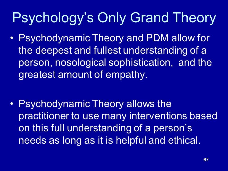 Psychology's Only Grand Theory