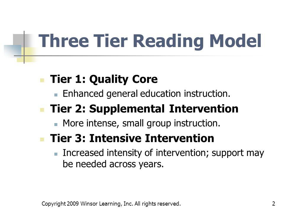 Three Tier Reading Model