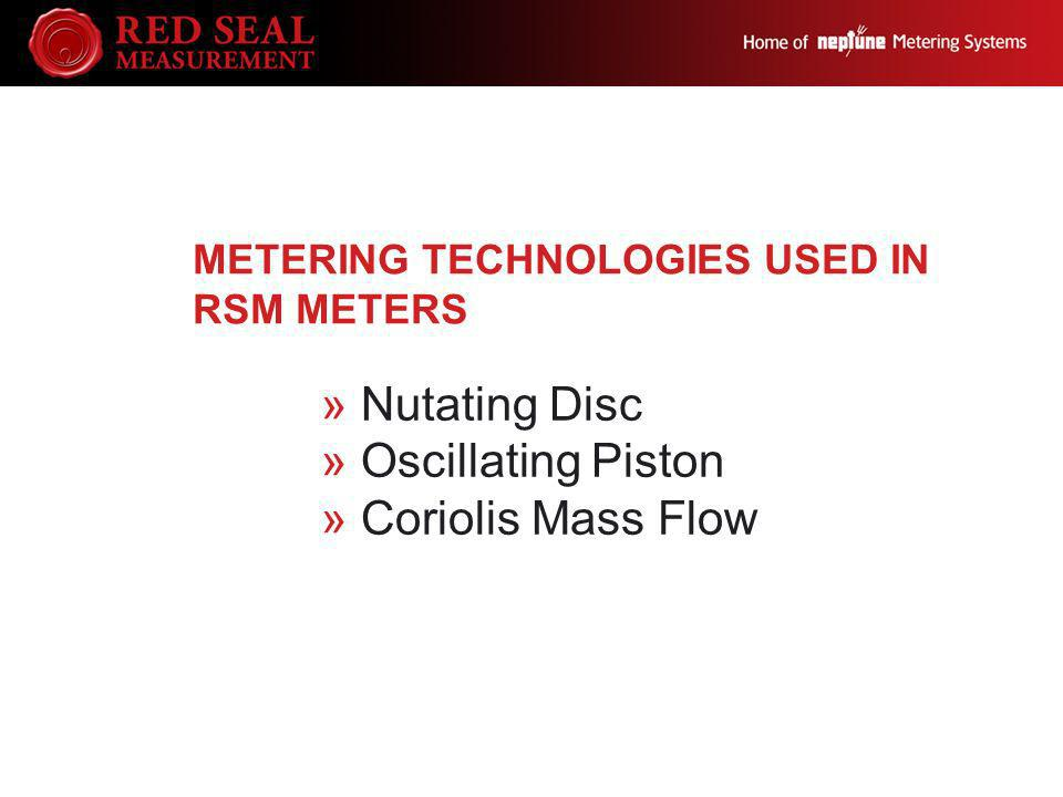 Metering Technologies Used in RSM Meters
