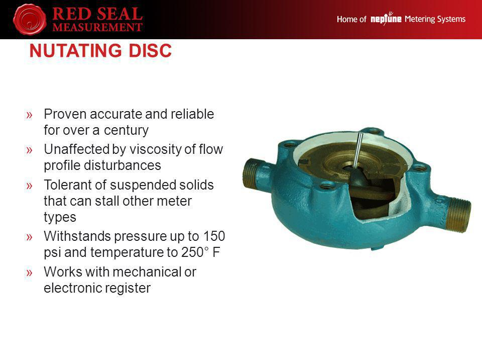 Nutating Disc Proven accurate and reliable for over a century