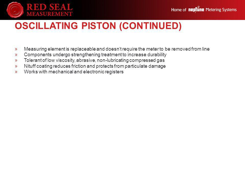 Oscillating Piston (continued)