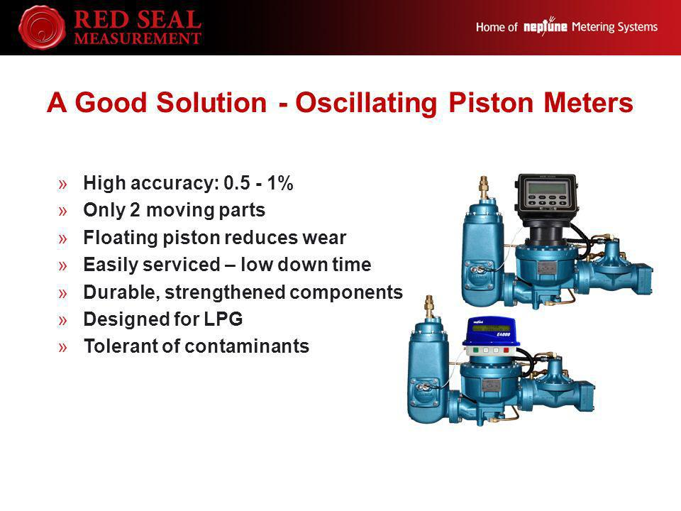 A Good Solution - Oscillating Piston Meters