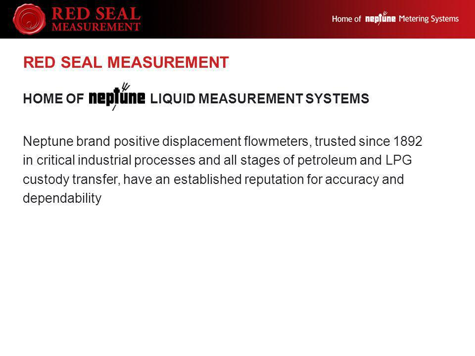 RED SEAL MEASUREMENT Home of Liquid Measurement Systems