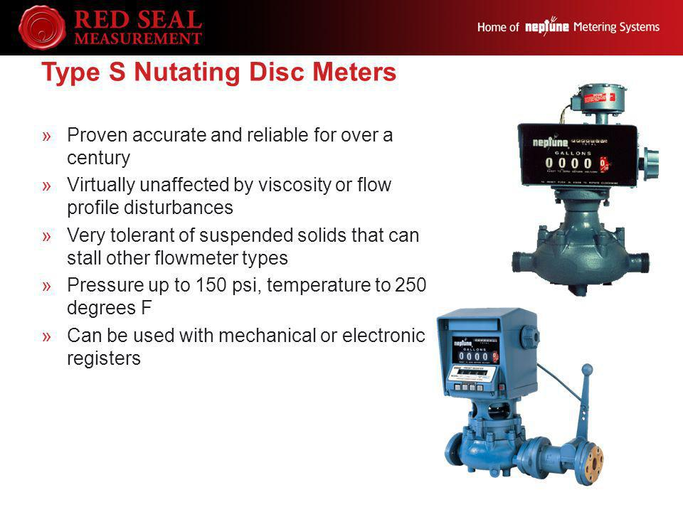 Type S Nutating Disc Meters