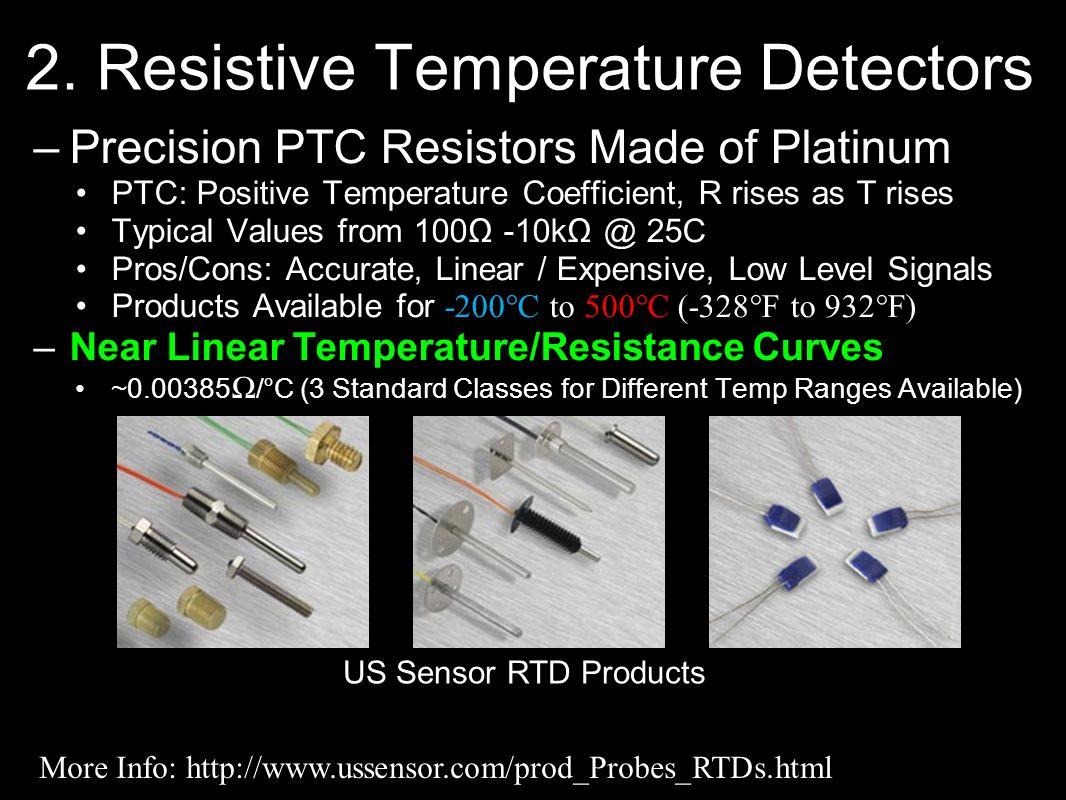 2. Resistive Temperature Detectors