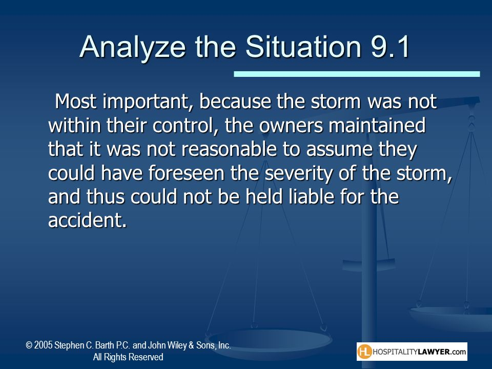 Analyze the Situation 9.1