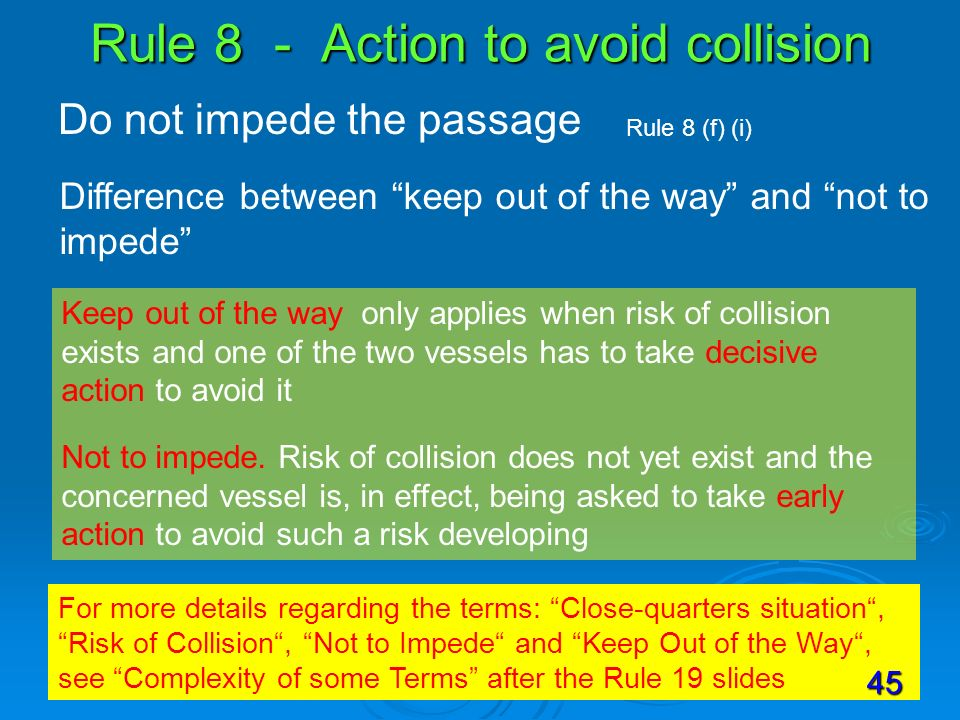 Rule 8 - Action to avoid collision
