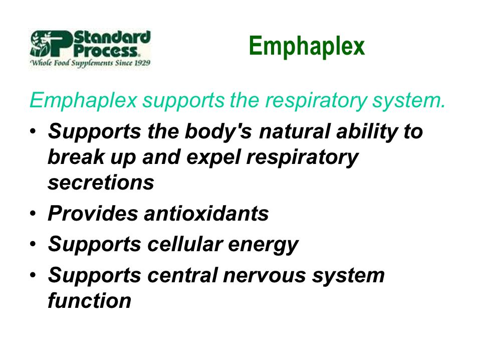 Emphaplex Emphaplex supports the respiratory system.