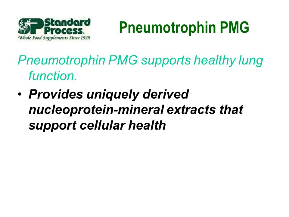 Pneumotrophin PMG Pneumotrophin PMG supports healthy lung function.